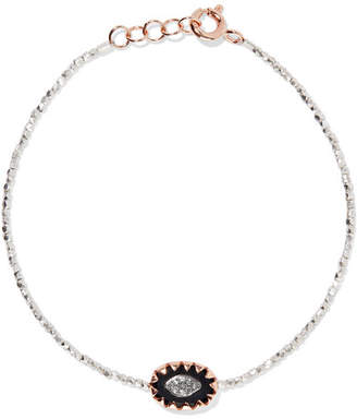 Pascale Monvoisin Montauk 9-karat Rose Gold, Sterling Silver, Bakelite And Diamond Bracelet