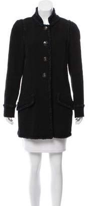 Chanel Fringe-Trimmed Tweed Coat