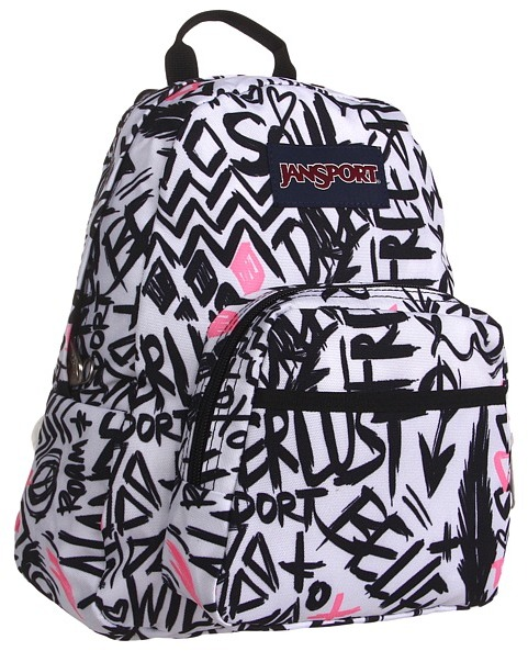 JanSport Half Pint (Pink Pansy Wanderlust) - Bags and Luggage