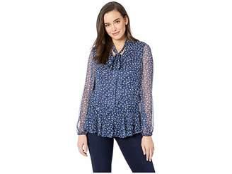 d6a0fe376899c Lauren Ralph Lauren Print Tie Neck Georgette Top