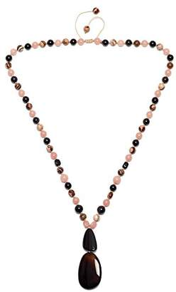 Lola Rose Women Multicolour Coral Agate Pendant of Length 72cm 691857