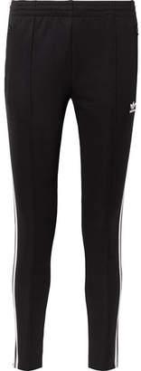 adidas Sst Striped Jersey Track Pants - Black
