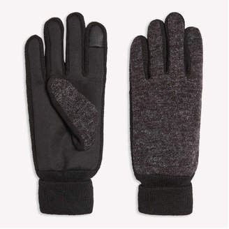 Joe Fresh Men's Touch Screen Gloves, Dark Charcoal Mix (Size L/XL)