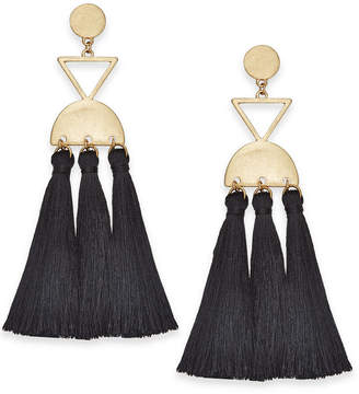 INC International Concepts I.n.c. Gold-Tone Tassel Chandelier Earrings, Created for Macy's