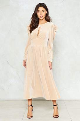 Nasty Gal Stranger's Kiss Velvet Dress