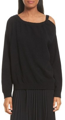 Women's Vince Cashmere Cold Shoulder Tunic $325 thestylecure.com