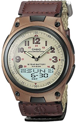 Casio Men's Illuminator World Time Analog & Digital Databank Chronograph Watch - AW80V-5BV