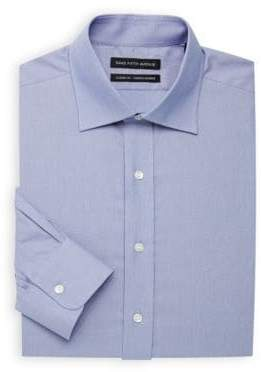 Saks Fifth Avenue Textured Tight Weave Classic-Fit Dress Shirt