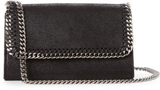 Stella McCartney Black Falabella Shaggy Deer Chain Wallet