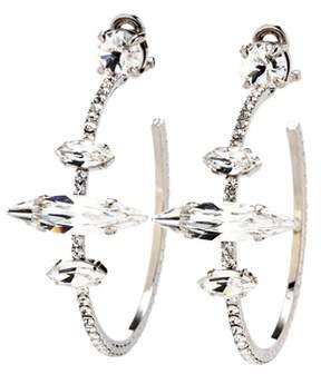 Miu Miu Embellished clip-on hoop earrings