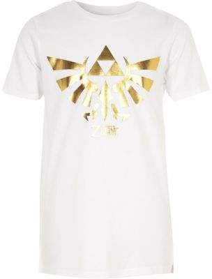 River Island Boys white The Legend of Zelda print T-shirt
