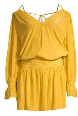 Ramy Brook Evan Off-The-Shoulder Blouson Dress