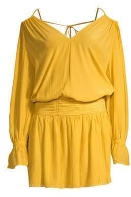 Ramy Brook Evan Off-The-Shoulder Blouson Dress