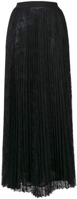 Pinko lace pleated long skirt