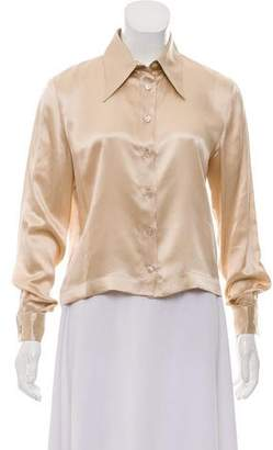 Chanel Silk Button-Up Top