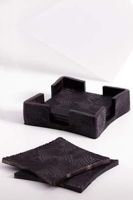 Natori Wood Grain Coaster Set