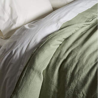 One Kings Lane Matteo For Washed Linen Duvet Cover - Olive