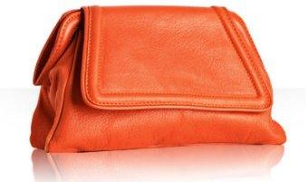 Kale Handbags pimento washed lambskin framed clutch
