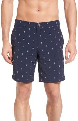 Men's Boto Aruba Embroidered Board Shorts $79 thestylecure.com