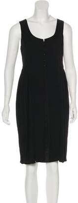 Narciso Rodriguez Pleated Knee-Length Dress