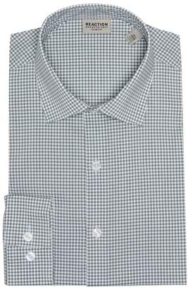 Kenneth Cole Reaction Checkered Slim Fit Dress Shirt