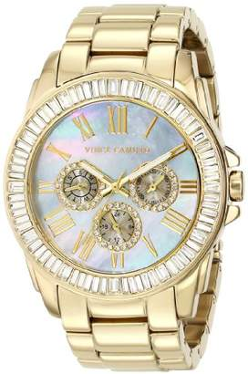 Vince Camuto Women's VC/5158GMGB Swarovski Crystal Accented Multi-Function Gold-Tone Bracelet Watch