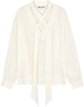 Diane von Furstenberg Jessamine Ivory Silk Blouse