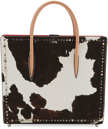 Christian Louboutin  Christian Louboutin Paloma Large Calf Hair Mixed-Studs Tote Bag