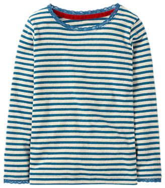 Boden Mini Girls' Sparkly Pointelle T-Shirt