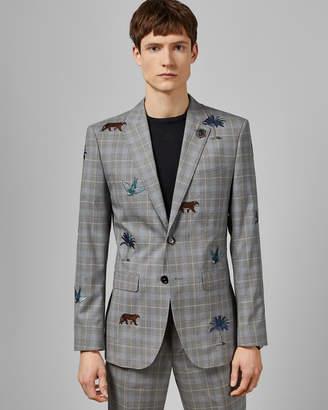 Ted Baker COMPASS Check safari wool jacket