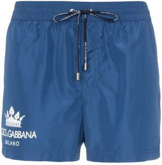 Dolce & Gabbana crown logo swimming trunks