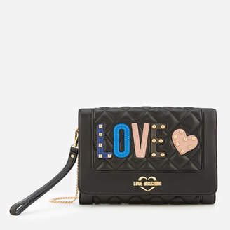 Love Moschino Women's Quilted Love Cross Body Bag - Black