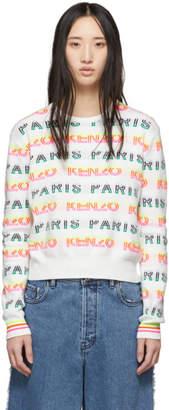 Kenzo White Jacquard Logo Sweater