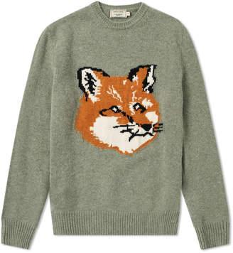 MAISON KITSUNÉ Fox Head Crew Knit