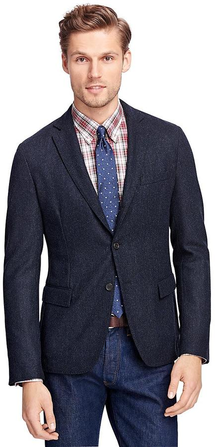 Brooks Brothers  Navy Herringbone Sport Coat