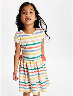 John Lewis & Partners Girls' Stripe Dress, Multi
