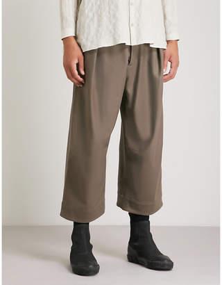 Toogood Tinker cropped wide-leg felt trousers