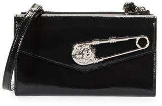Versace Tri-Fold Patent Leather Wallet-On-Chain