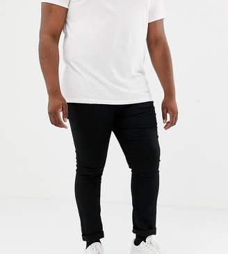 New Look Plus skinny jeans in black