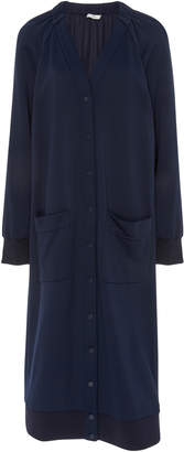 Tibi Shirred V-Neck Cardigan Dress