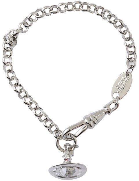 Vivienne Westwood Petite Orb Bracelet (Rhodium/Multi) - Jewelry