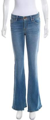 Genetic Los Angeles Flared Low-Rise Jeans