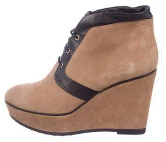 Tod's Suede Wedge Ankle Boots brown Suede Wedge Ankle Boots