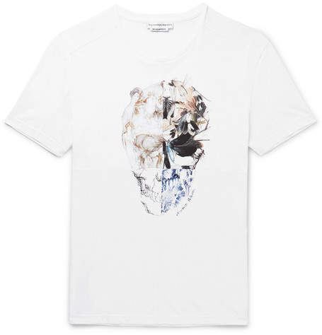 Alexander McQueen Patchwork Printed Cotton-Jersey T-Shirt