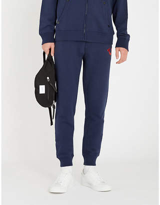 True Religion Logo-print cotton-jersey jogging bottoms
