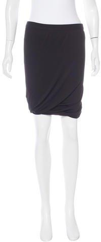 Alexander WangT by Alexander Wang Knee-Length Knit Skirt