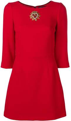 Dolce & Gabbana embellished heart mini dress