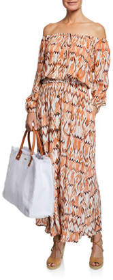 Melissa Odabash Daisy Printed Button-Front Coverup Skirt