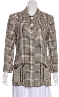 Valentino Structured Knit Jacket