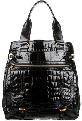 Alexander McQueenAlexander McQueen Embossed Patent Leather Tote